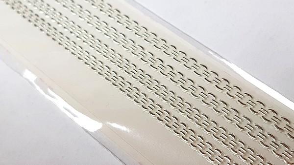 Long Luxus Chrome Design Sticker 219 Silber
