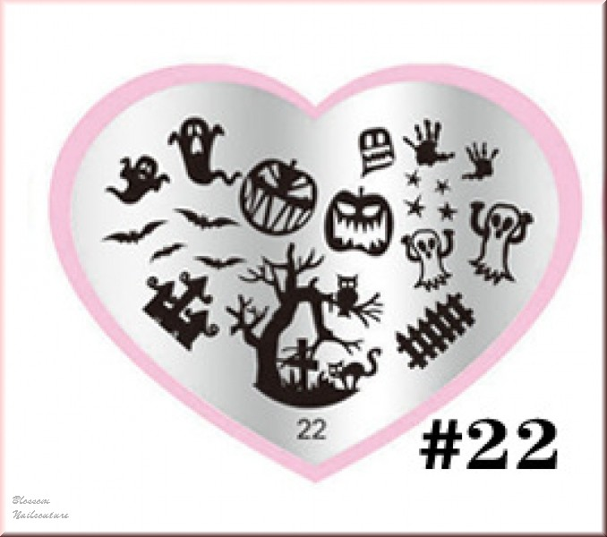Stamping Plate Heartbeat Halloween
