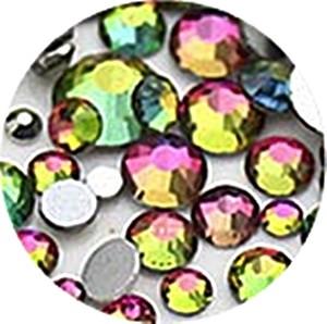 750 Dark Aurora Strasssteine SS3-SS16 hochwertige Glasmanufaktur