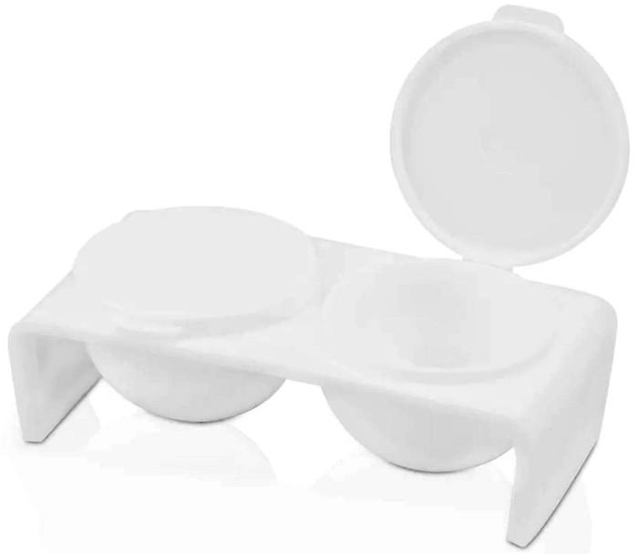 Double Dappen Dish White - Kunststoff