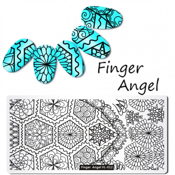 Stamping Plate Finger Angel Perfect Stamp