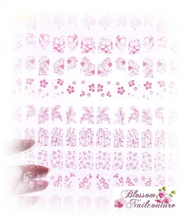 Glamour Ornamente selbstklebend Rosa