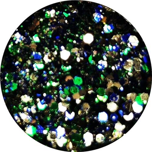 Glamour Glitter Swirl Ocean Mix  XL-Größe