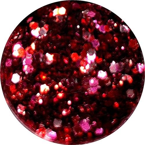 Glamour Glitter Swirl Red Sin  XL-Größe