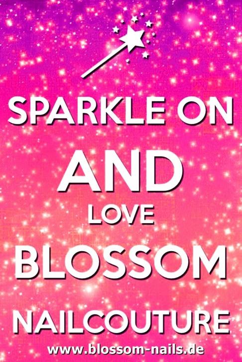 B-WARE (minimale Druckverschmutzung) Blossom Nailcouture Fantasse Sparkle On beidseitiger Druck