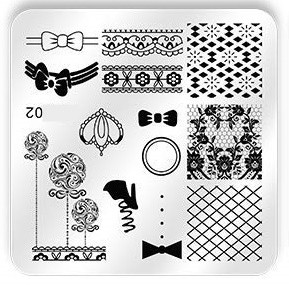 Stamping Plate Girls Fun 02