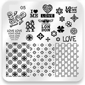 Stamping Plate All You Need Is Love 05