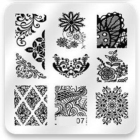 Stamping Plate Lace Pattern 07