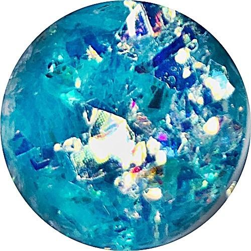 Mirror Shapes Shiny Blue