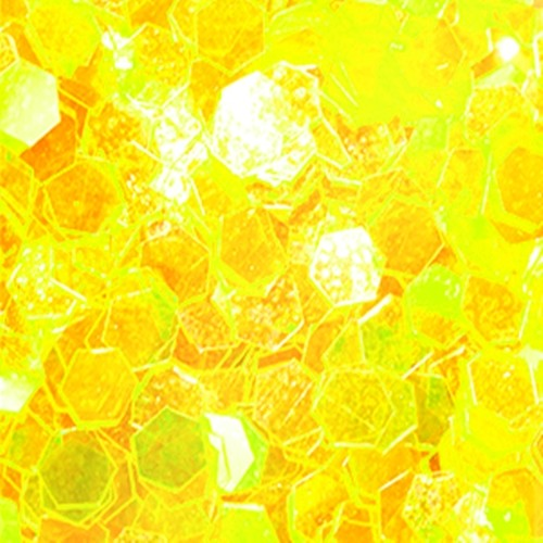Big Pailletten Ultra Slim Effekt Gelb