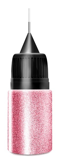 Rose Platin Glitter in Squeezer Flasche