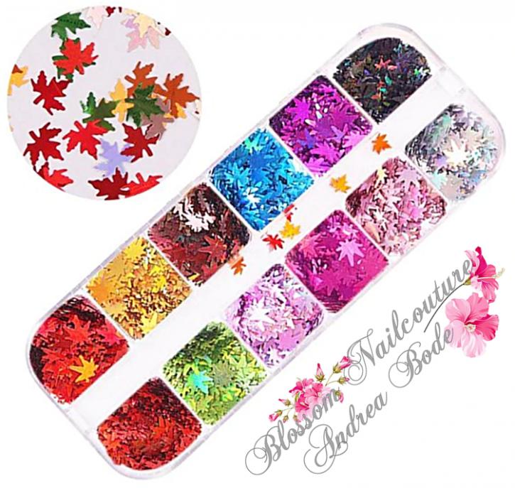 Autumn Holo Leaves Box - Coloured