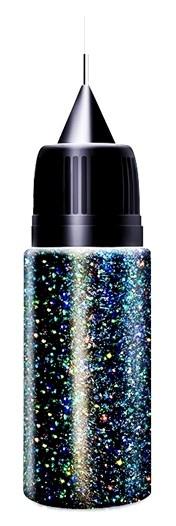 Black Multicolor Dust Glitter in XL-Squeezer Flasche