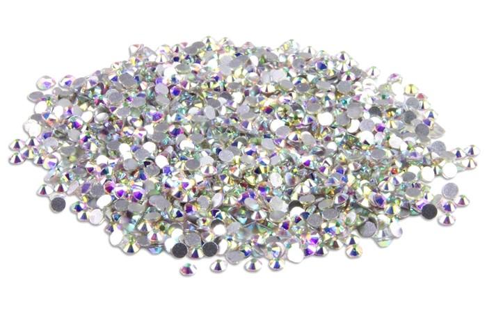 1500 Aurora Crystal AB Strasssteine SS3 hochwertige Glasmanufaktur