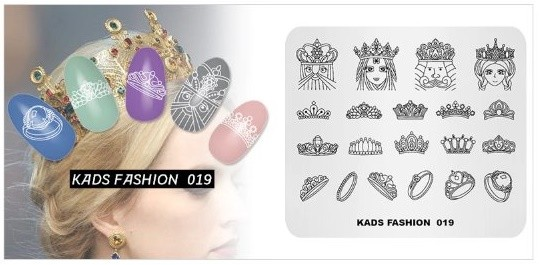 Kads Magic Art Fashion 019 Stamping Plate