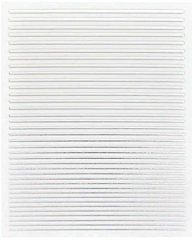 Flexible Stripes Sticker Silber