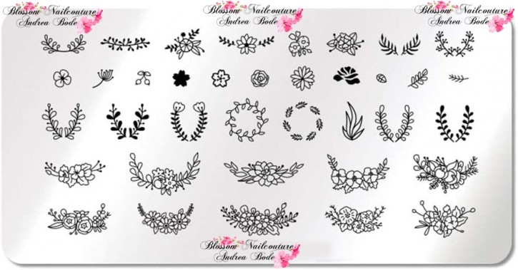 Stamping Plate Floral Bouquet
