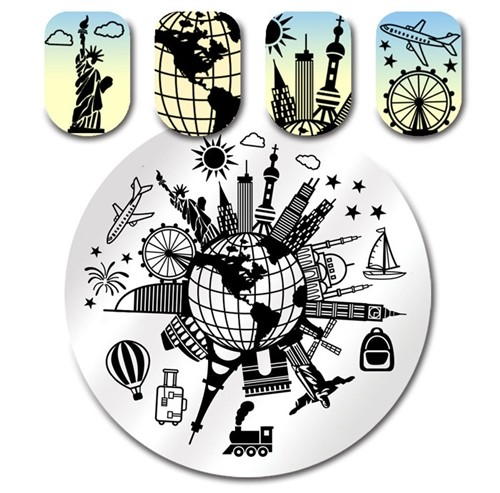 Stamping Plate Fly Around The World