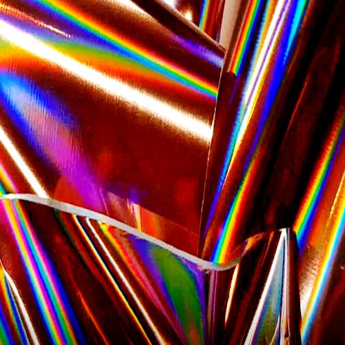 XL Transfer Folien Rolle Hologramm Rosegold