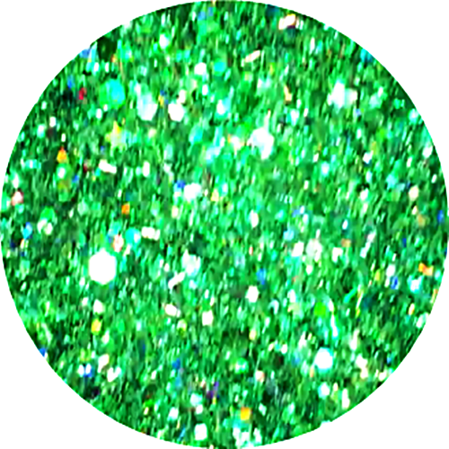 Glamour Glitter Swirl Shades of Green  XL-Größe