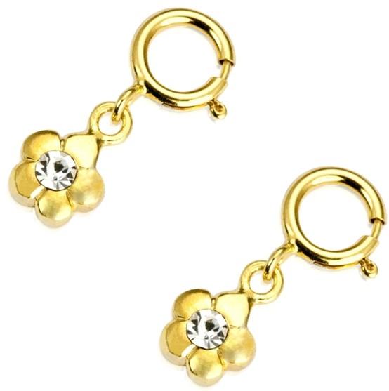 Nagel Piercing Golden Blossom 24K vergoldet - 2 Stück