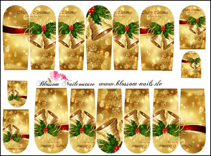 Blossom Nailcouture Wrap Golden Christmas