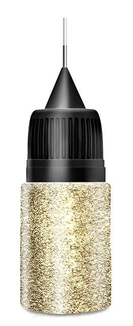 Golden Platin Glitter in Squeezer Flasche
