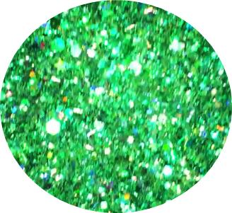Limited Edition Glamour Glitterwirl Shades of Green  XL-Größe