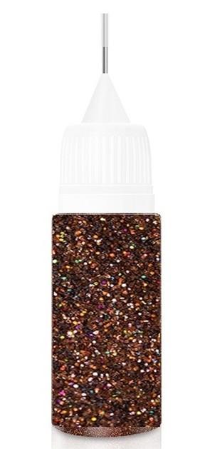 Holo Brown Fairy Dust Glitter in XL-Squeezer Flasche