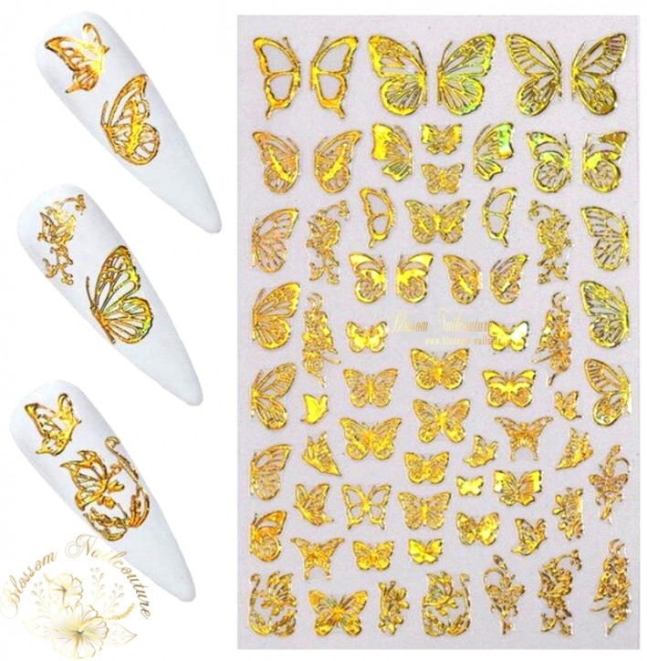 Lovely Butterfly Sticker Holo Gold