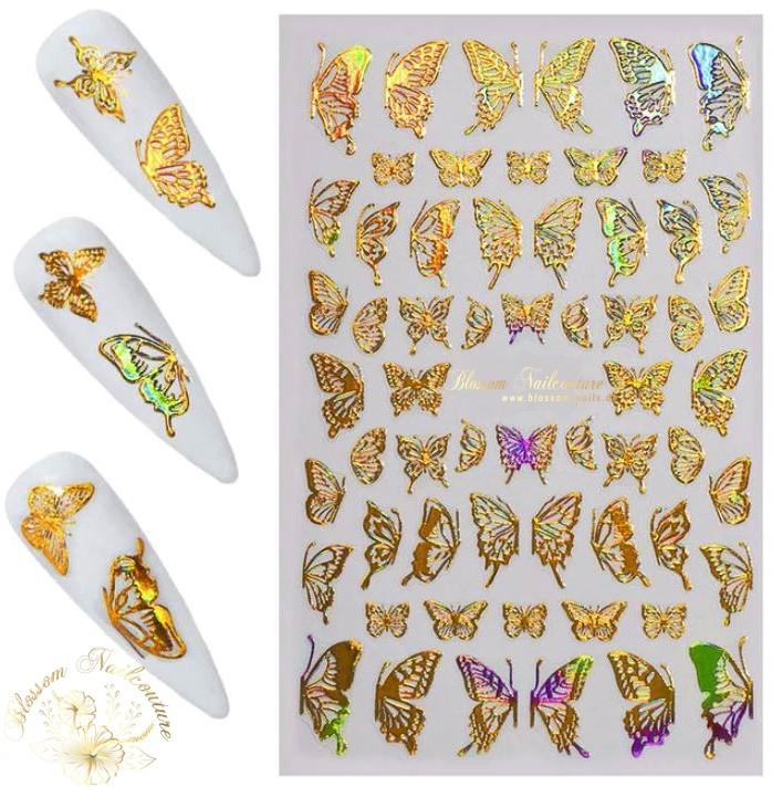 Lovely Butterfly Sticker Holo Gold