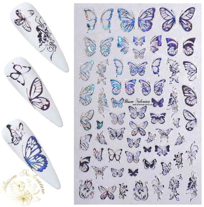 Lovely Butterfly Sticker Holo Silver