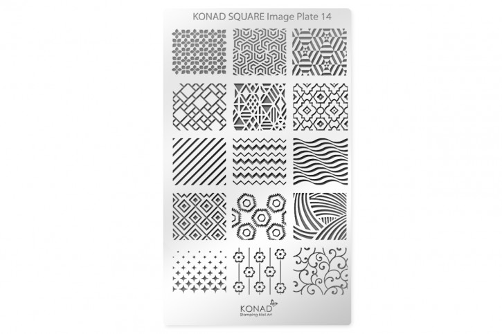 Konad Square Stamping Plate 14