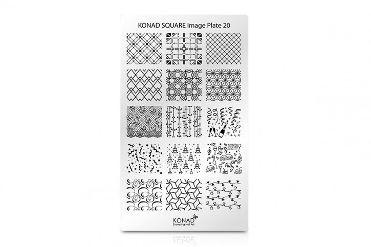 Konad Square Stamping Plate 20
