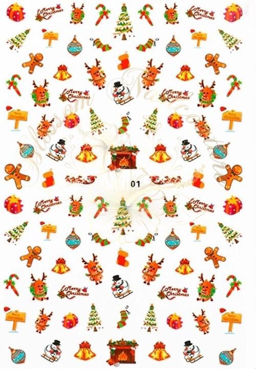 Luminous Holo Christmas Sticker 01