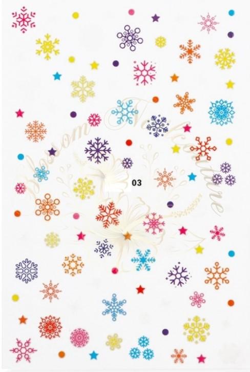 Luminous Holo Christmas Sticker 03