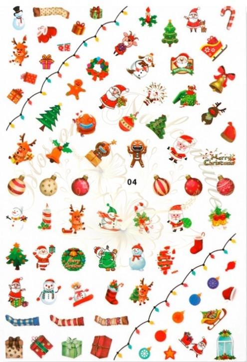 Luminous Holo Christmas Sticker 04