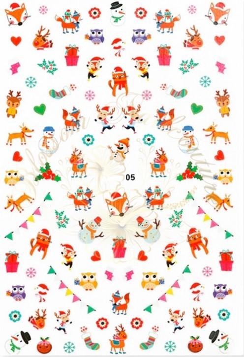 Luminous Holo Christmas Sticker 05