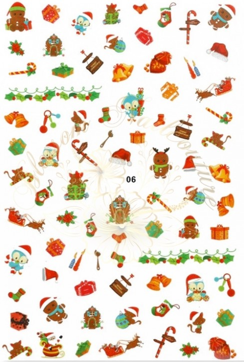 Luminous Holo Christmas Sticker 06
