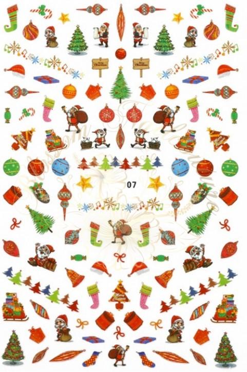Luminous Holo Christmas Sticker 07