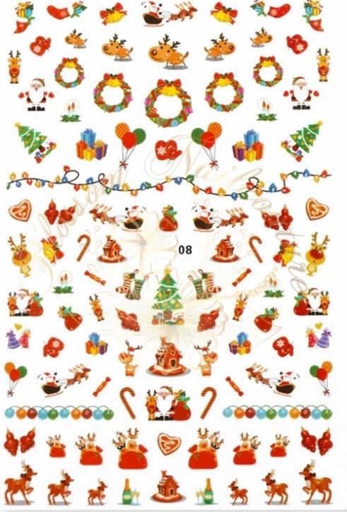 Luminous Holo Christmas Sticker 08