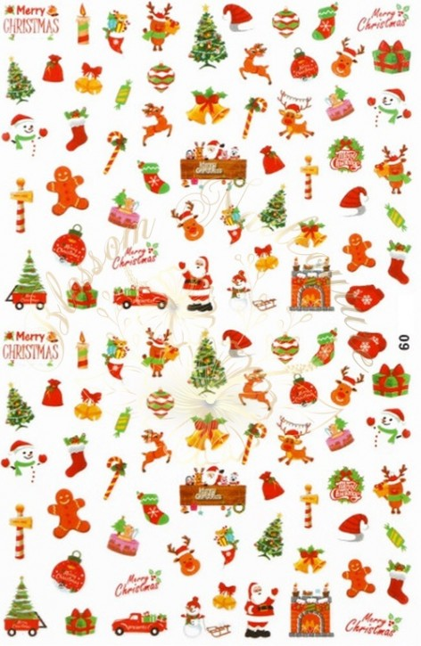 Luminous Holo Christmas Sticker 09
