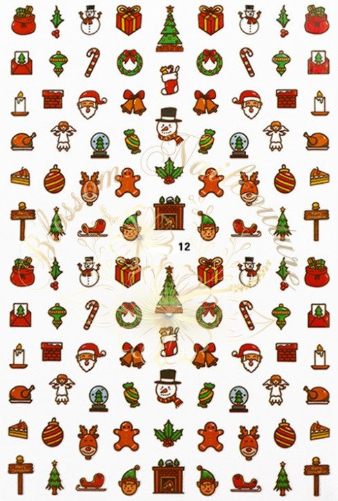 Luminous Holo Christmas Sticker 12