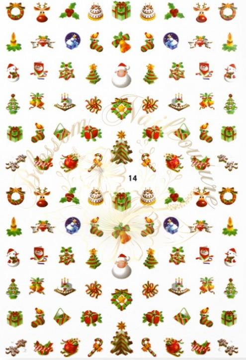 Luminous Holo Christmas Sticker 14