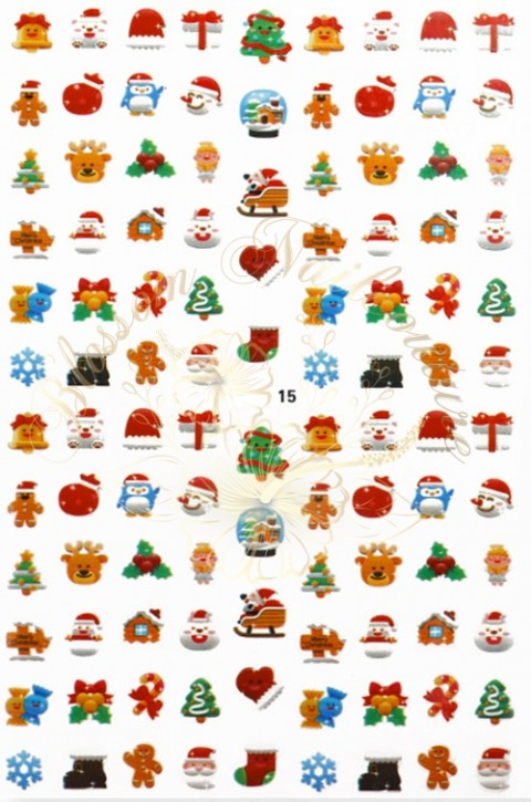 Luminous Holo Christmas Sticker 15