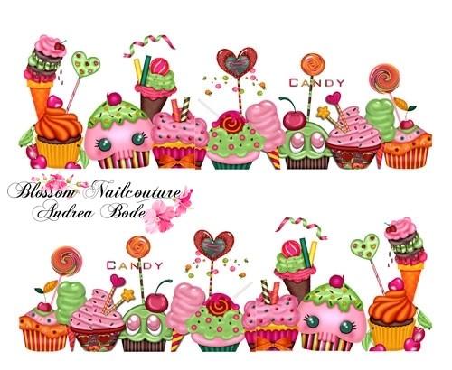 Cupcake Party Slider - hochdeckend
