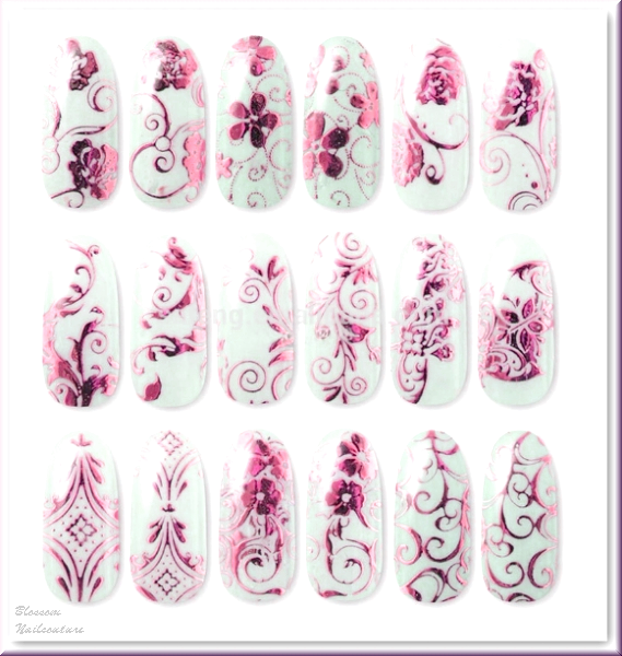 Glamour Ornamente selbstklebend Pink