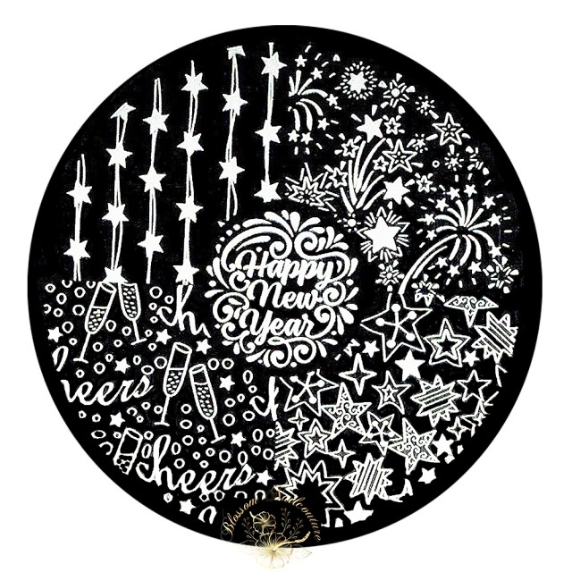Stamping Plate Happy New Year
