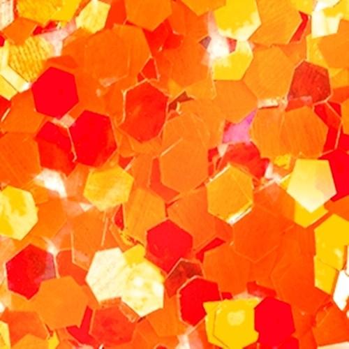 Big Pailletten Ultra Slim Effekt Orange