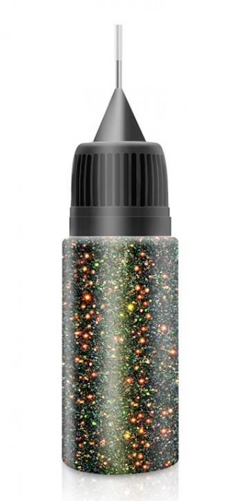 Black Red to Green Fairy Dust Glitter in XL-Squeezer Flasche